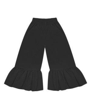BLACK RUFFLE PANTS