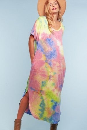 TIE DYE MAXI WITH SLITS