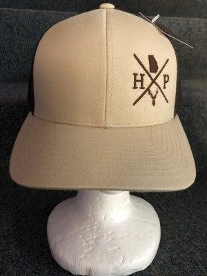 MEN'S BROWN/TAN HP STATE OF GA DEER HEAD HAT