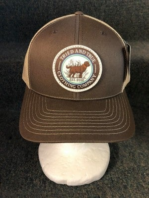 MEN'S BROWN/TAN TRIED & TRUE DOG HAT