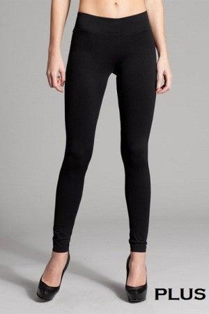 Solid Basic Seamless 36-inch Full Leggings REGULAR AND CURVY SIZES