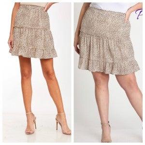 Layered ruffle animal skirt