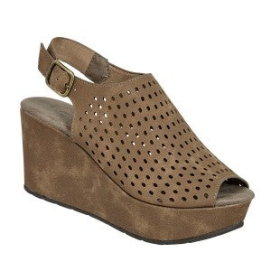 PIERRE DUMAS NATURAL TAUPE WEDGE