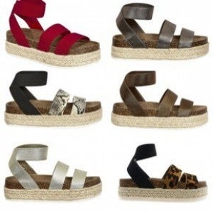 Pierre Dumas Mesa Platform Sandals (6 colors)