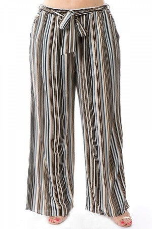 SPIN STRIPED PANTS (2 colors)