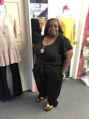 SPIN BLACK CAPRI Jumpsuit