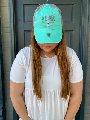 ORIGINAL BRAND HATS ROME GEORGIA TEAL/GREY