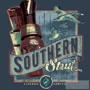 MEN'S BLUE SOUTHERN STRUT DUCK CALL SHIRT