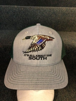 MEN'S GREEN/GREY 'ITS ALL ABOUT THE SOUTH DUCK HAT