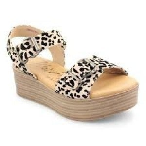 BLOWFISH LEOPARD SMALL WEDGE *Final Sale*