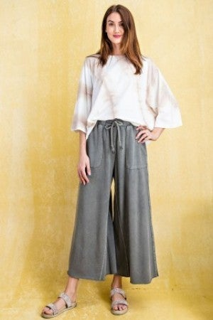 EASEL WASHED TERRY KNIT PANTS