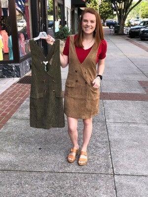UMGEE CORDUROY OVERALL DRESS