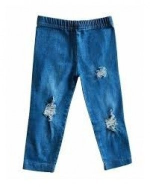 BLUE JEANS DISTRESSED
