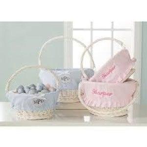 MUDPIE Seersucker Easter Basket