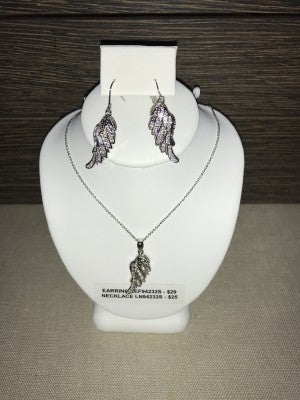 CZIRE ANGEL WINGS NECKLACE  OR EARRINGS (SEPARATE PRICES)
