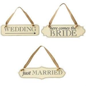 MUDPIE WEDDING DAY SIGNS