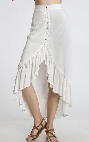 Button down maxi skirt