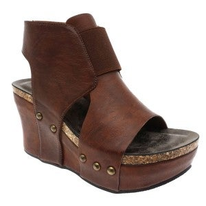 PIERRE DUMAS BROWN WEDGE