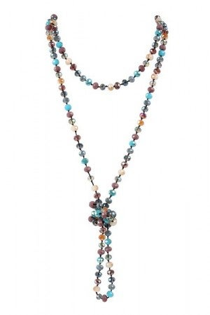LONGLINE HAND KNOTTED NECKLACE 60""