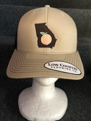 MEN'S BROWN/TAN STATE OF GA W/ PEACH HAT