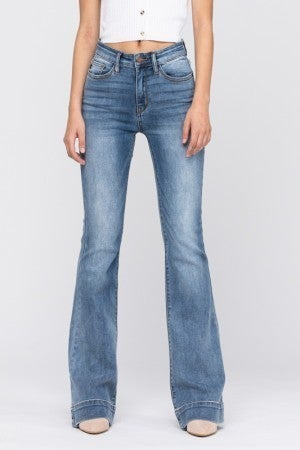 MID RISE TROUSER FLARE JEANS