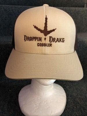 """MEN'S BROWN/TAN """"DROPPIN DRAKE"""" TURKEY FOOT HAT"""