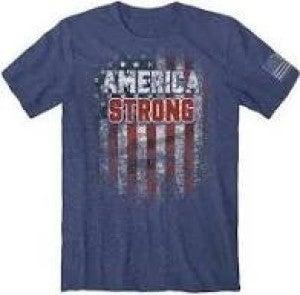 MEN'S BUCK WEAR AMERICA STRONG TEE SHIRT