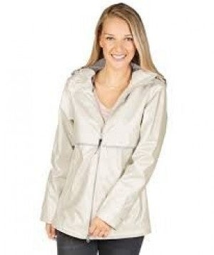 CHARLES RIVER IVORY/PEARL RAINCOAT