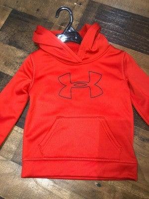 red under armor sweatshirt with logo