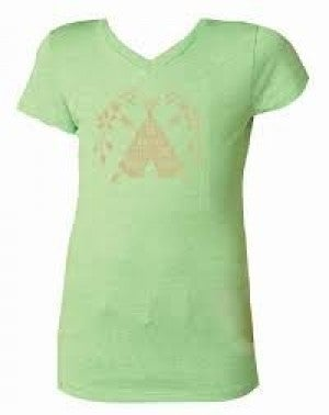 GREEN V-NECK T-SHIRT (BE BRAVE LITTLE ONE)