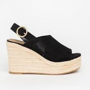 SODA BLACK WEDGE