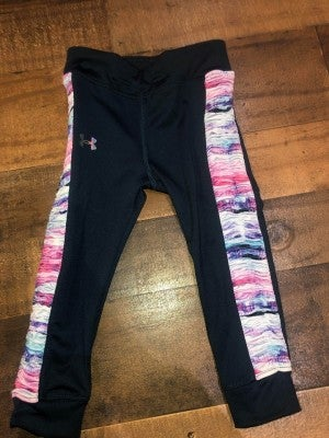 blue under armor leggings with detailed sides