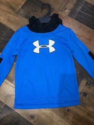 blue/black under armor hoodie