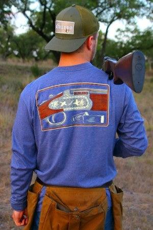 Charcoal BURLEBO SHOTGUN Long sleeve t