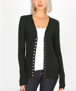 Our Favorite Snap Cardigan in Anything But Basic Black!