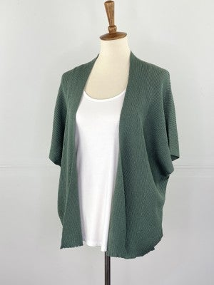 The Slouchy Summer Cardigan in Olive