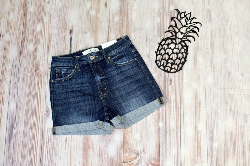 Rock + Rolled Up Cuff High Rise Jean Shorts