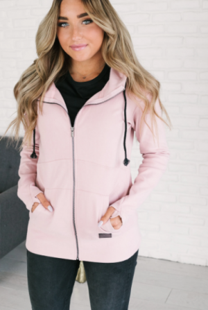 The Perfect Pink Full Zip Hoodie