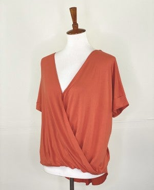 The Slouchy Summer Wrap Top in Tiger