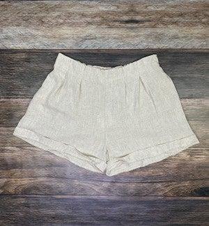 Sandy Beach Pintuck Rolled Shorts