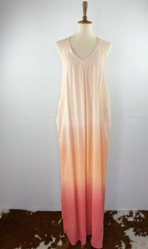 The Summer Sunset Ombre Maxi Dress