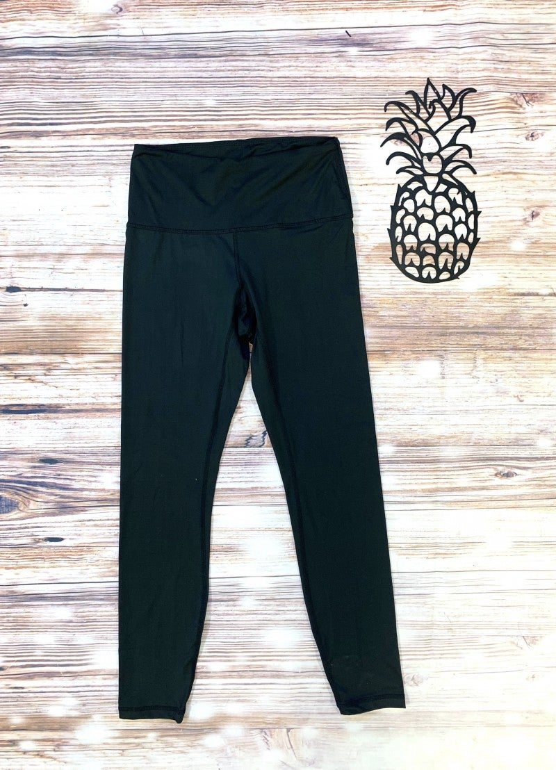 High Waisted Yoga Leggings In Black