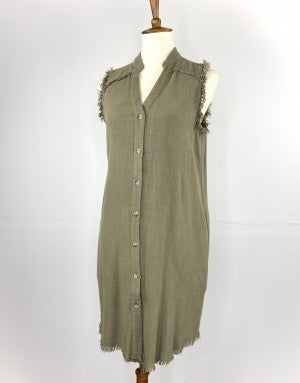 The Eleanor Dress in Olive
