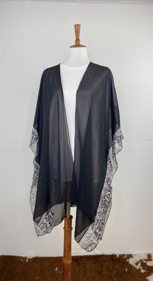 The Day To Night Sheer Black Kimono