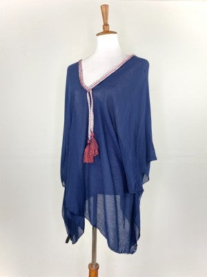 Red, White, and Blue Poncho