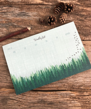 Forest Weekly List Notepad