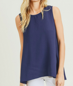 The Perfectly Penelope Sleeveless Top in Navy
