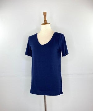 The New Classic V-Neck Tee in Navy
