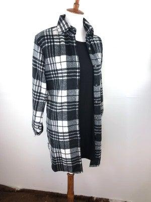 Black + White Lumber Jill Flannel Shirt Jacket