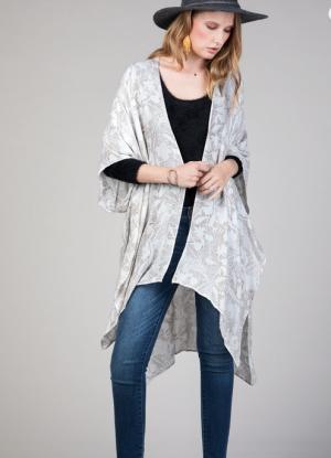 The Floral Kimono in White